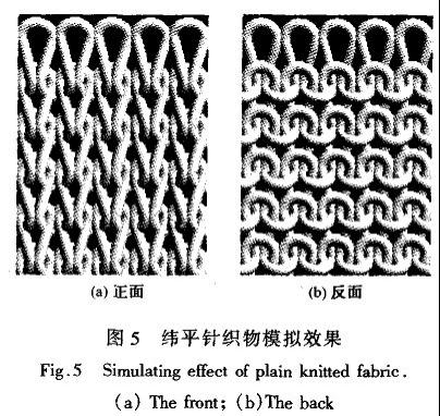 纬平针织物的计算机三维模拟